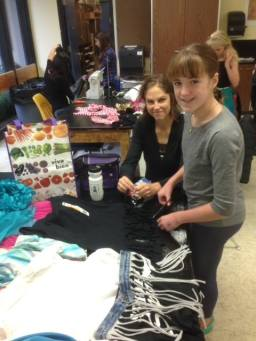 Emily Ocheskey assists Future Fashionista