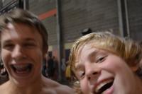 Mitchell Lamer (JV Boys) and Pelle Bergstrom (Varsity Boys & JV Boys Team Captain) smile for the camera.