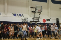 Seniors at the dance-off.
