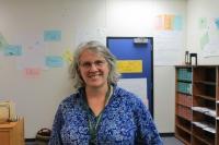 DeLona Campos-Davis in a classroom at HRVHS.